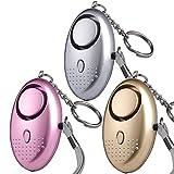 U UZOPI Taschenalarm - 140 dB Safesound Personal Alarm mit Taschenlampe Schlüsselanhänger,...
