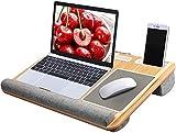 HUANUO Laptopunterlage für Bett mit Mausunterlage & Handgelenkauflage, Laptop Kissen für max. 17...