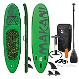 ECD Germany Aufblasbares Stand Up Paddle Board Makani | 320 x 82 x 15 cm | Grün | PVC | bis 150kg |...
