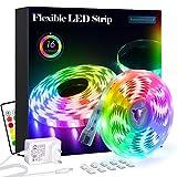 LED Strip RGB 5m LED Licht Streifen SMD 5050 Leds mit Netzteil, Fernbedienung Led stripes Lichtband...