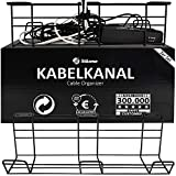Stilemo Kabelkanal Schreibtisch - Kabelmanagement Schreibtisch 2er Set - Kabelhalter Kabelwanne...