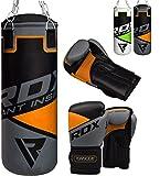 RDX Kinder Boxsack Set Gefllt Kickboxen MMA Kampfsport Muay Thai Boxen mit Kette Training Handschuhe...