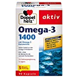 Doppelherz Omega-3 1400 mg – Hochdosiertes Omega-3-Konzentrat plus Vitamin E – Hoher Gehalt an...