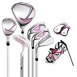 NXL Junior Complete Golf Club Set Für Kinder Kinder - 3 Altersgruppen Jungen & Mädchen - Linke...