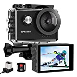 Apexcam X60Pro Action Cam 4K 60fps WiFi 20MP Unterwasserkamera 40M Wasserdicht 8xZoom EIS 170°...