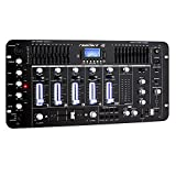 resident dj Kemistry 3BK - DJ-Mixer, 4-Kanal Mischpult, DJ-Mischpult, Bluetooth, USB-Port, SD-Slot,...