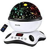 Moredig - Sternenhimmel Projektor, Musik Nachtlicht Lampe 360° Rotation + 12 Beruhigende Musik + 8...