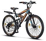 Licorne Bike Strong D 26 Zoll Mountainbike Fully, geignet ab 150 cm, Scheibenbremse vorne und...