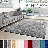 Shaggy-Teppich   Flauschiger Hochflor für Wohnzimmer, Schlafzimmer, Kinderzimmer oder Flur Läufer...