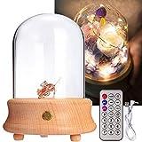 Quskto Schreibtischlampe, Holztischlampe drahtlose Bluetooth-Licht-Dekor-Spieluhr mit...