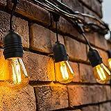 39 Meter LED Lichterkette Außen,[Neue Version]OxyLED S14 Lichterkette Glühbirne LED Retro, IP65...