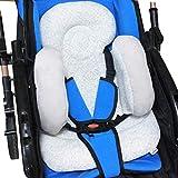 vocheer Baby Buggy Kissen, Baby Kopfstütze Kissen Neugeborene Autositz Einlage mit Nackenstütze...
