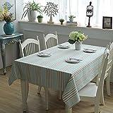 GAOHAILONG Tischdecke, Baumwolle, modern, minimalistisch, dick, gestreift, Staubschutz für Garten,...
