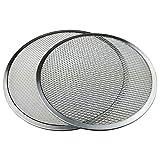 Xigeapg Pizza-Bildschirm Nahtlose Aluminium-Backblech, Pizza-Pfanne mit L?Chern Nahtlose...