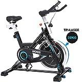 ANCHEER Indoor Cycling Bike Heimtrainer Hometrainer Fahrrad - 22KG Silent Belt Drive Verchromtes mit...