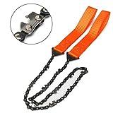 geshiglobal Geshig-Überlebens-Kettensäge Handkettensäge Notfall-Taschenausrüstung Chic Camping...