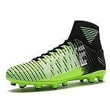 VITIKE Männer Fußball Ausbildung Schuhe Draussen Fußball Stiefel (EU-39-Grün)