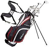 Wilson Anfnger-Komplettsatz, 10 Golfschlger mit Carrybag, Herren, Rechtshand, Stretch XL,...