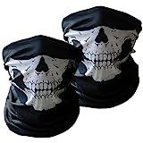 Xpassion 3 Stück Premium Sturmmaske Totenkopf Schwarz Skull Maske Multifonction Sturmmaske Ghost...