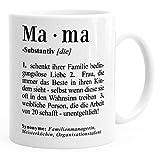 Kaffee-Tasse Mama Definition Dictionary Wörterbuch Duden Geschenk für Mama Mutter MoonWorks® Mama...