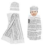 DaMohony Baby Pucksack mit Mütze, Neugeborene Pucksack Cocoon Wickeldecke Schlafsack mit Mütze...