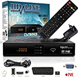 HD-LINE HDMI Receiver Satellit HD Digitaler Satelliten Receiver HDMI DVB S2 Receiver für Sat HD...
