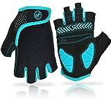 REETEE Fahrradhandschuhe Halbfinger Radsport Handschuhe Atmungsaktiv Anti-Rutsch Radhandschuhe...