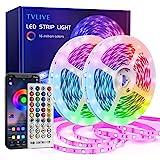 TVLIVE LED Strip 20m, RGB LED Streifen, Led Lichterkette mit Fernbedienung, 16 Mio. Farben,...
