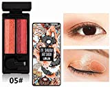 2-farbig Lidschatten mit gemischtem Farbverlauf, Einfach herumzutragen, verfeinern das Make-up...