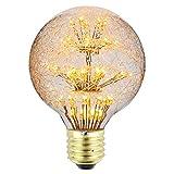 Tianfan LED-Leuchtmittel, Vintage-Leuchtmittel, Feuerwerk, Mond, RGB, Warmweiß, dekorative...