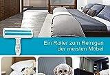 Tierhaarentferner Fusselrolle, Fusselbrste fr Haustierhaar, Tierhaar Fusselroller Wiederverwendbar,...