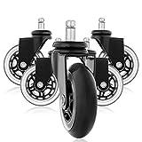 Office Sky Rollerblade Style Gummi Ersatz Räder, Bürostuhl Caster Wheels für Ihren Schreibtisch...