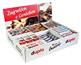 Ferrero Top Brand Box mit 78 Riegeln in 8 Sorten, mit Kinder Bueno, Kinder Country, Kinder Riegel,...