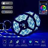 LED Streifen, Bluetooth LED Strip 10m LED Band RGB LED Strips Ip65 Wasserdicht 5050 300 LED Stripes...