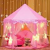Joylink Kinderspielzelt, Prinzessin Castle Spielzelt für Kinder mit Sternen,53 '' x 55 '' (DxH)...
