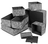 ilauke 8 Stück Aufbewahrungsbox Stoff Set faltbar Unterwäsche Socken Organizer Ordnungsbox Faltbox...