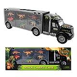 m zimoon Dinosaurier LKW Spielzeug, Dinosaurier Transporter Truck LKW mit 6 Mini Figuren Spielset...