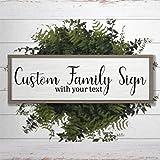 DONL9BAUER Holzrahmen, personalisierbares Familienschild mit Ihrem Text Zitat, Holzschild, Wandbild,...