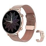 RIGHT TECHNOLOGY SCHARM Smartwatch für Damen,1.3 Zoll Touch-Farbdisplay. Fitness Armbanduhr mit...