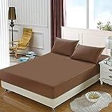 CTOBB Matratzen-Set aus 100% Polyester, mit Vier Ecken und elastischen Bettlaken, Kafei,...