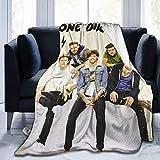 N \ A One Direction 3D weiche und warme Überwurfdecke, digital bedruckt, ultraweiche...