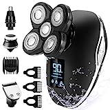 Glatzen Rasierer Herren, OriHea TwinShaver Rasierer LED-Display Präzisionstrimmer Bartschneider...