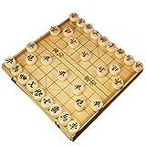 FunnyGoo Holzkiste Buchenholz Xiangqi Chinesisches Schachspiel mit Klappschachtel Schachbrett...