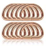Ganzoo D - Ring aus Stahl, 10er Set, Materialstärke 5mm, DIY Hunde-Halsband, nichtrostend, Ideal...