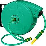 TecTake Schlauchtrommel Gartenschlauch Wasserschlauch | Einzugsautomatik | Wandhalterung | Inkl....