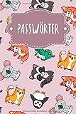 Passwörter: Notizbuch zum Organisieren aller Zugangsdaten | Motiv: Rosa Tierwelt
