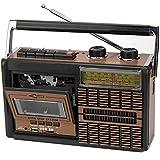 LPWCAWL Vintage Radio, Retro Kassettenrecorder, 4 Band Radio mit Kopfhöreranschluss und Bluetooth,...