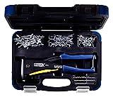 Rapid Blindnietzange RP40 Multi Koffer inkl.  150 Nieten und 3 Bohrern, für ALU und Edelstahlniete...