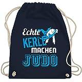 Shirtracer Kampfsport - Echte Kerle machen Judo - Unisize - Navy Blau - judo tasche - WM110 -...