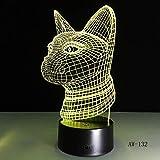 WangZJ 3D Nachtlicht Lampe Hund Kinder Spielzeug LED Touch Tischlampe 7 Farbe Blinkende LED Licht...
